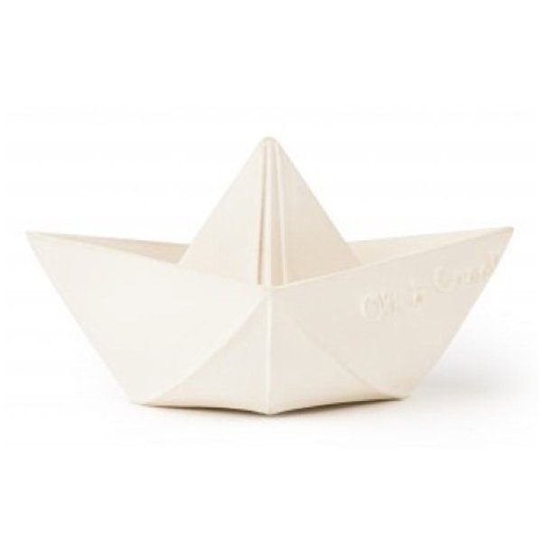 Oli & Carol Oli & Carol Origami Boat - White Teether