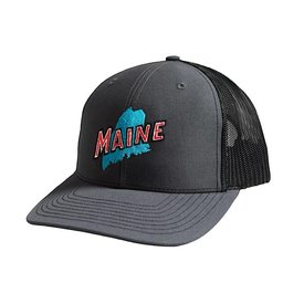 Richardson Retro Maine Trucker Hat - Charcoal