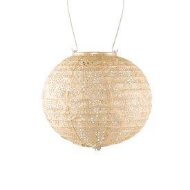Soji Stella – Globe – 8″ Tyvek Solar Lantern - Pearl