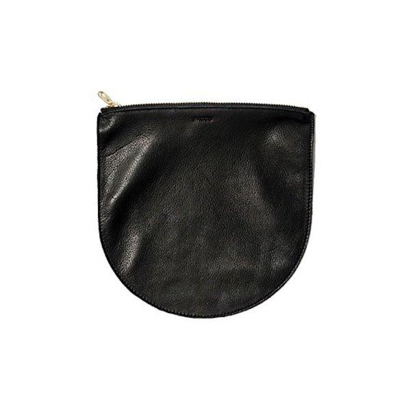 Baggu Leather U Pouch - Black