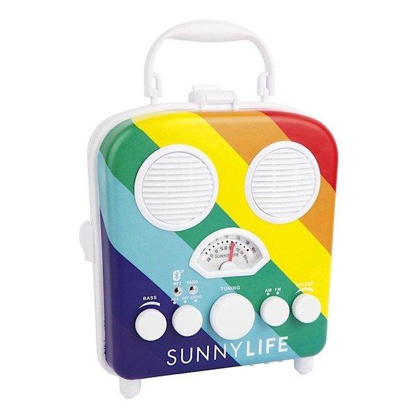 Sunnylife Beach Sounds Portable Speaker and Radio - Rainbow