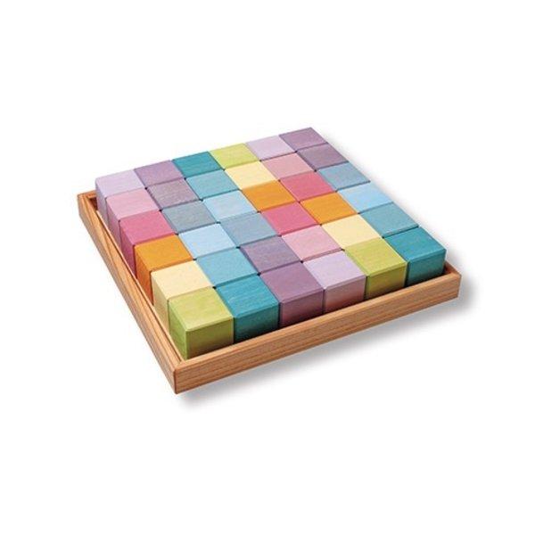 Grimms 36 Square Cubes - Pastel