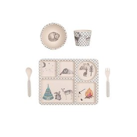 Love Mae Love Mae Bamboo 5pc Set - Forest Feast