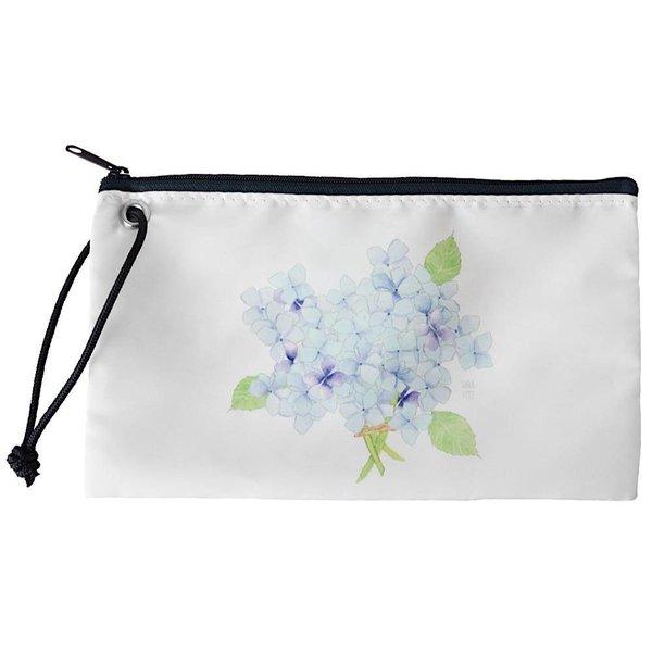 Sea Bags Sara Fitz Hydrangea Single Bloom Wristlet