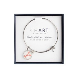Chart Metalworks Expandable Bangle - Sara Fitz Lobster - Pewter