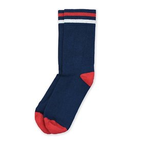 American Trench American Trench Kennedy Lux Athletic Socks - Navy with Red/White Stripe