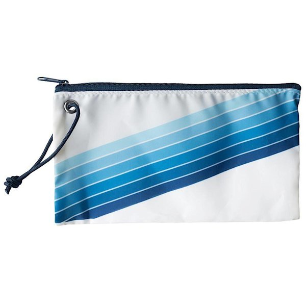 Sea Bags Custom Daytrip Society Retro Stripe Wristlet - Blue Gradient