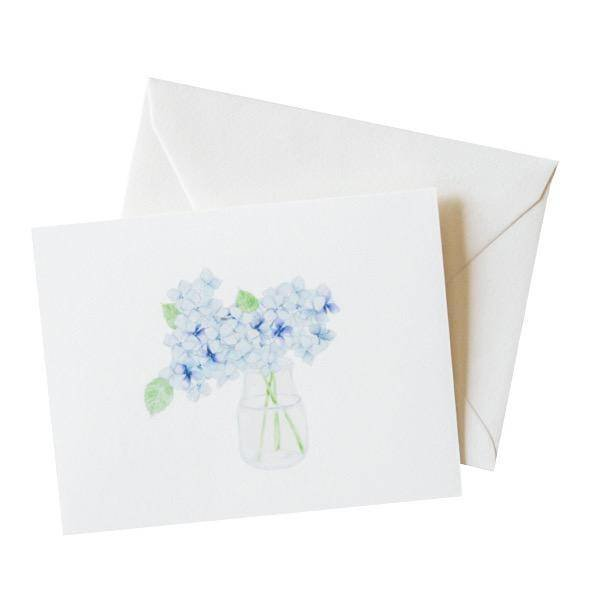 Sara Fitz Hydrangea Card - Box of 8