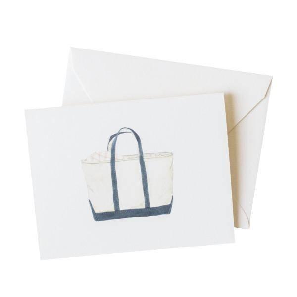 Sara Fitz Canvas Tote Card - Box of 8
