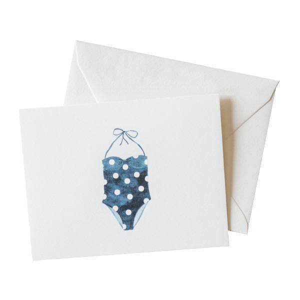 Sara Fitz Polka Dot Swimsuit Card