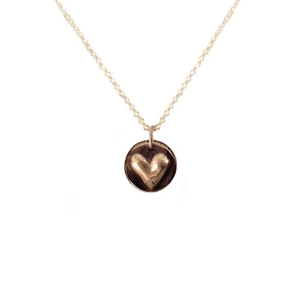 Emma Alexander Heart Necklace - Bronze
