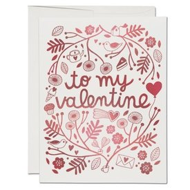 Red Cap Cards Treats For Valentine Card