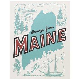 Daytrip Society Retro Maine Poster