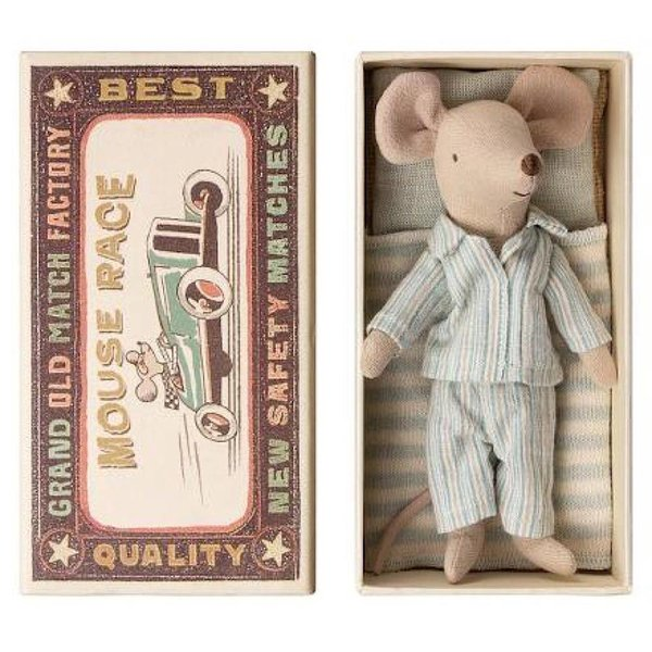 Maileg Mouse - Big Brother in Box - Pajamas