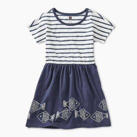 Tea Collection Geo Fish Graphic Twirl Dress