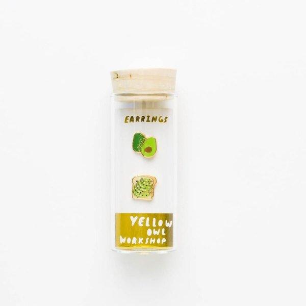 Yellow Owl Workshop Earrings - Avocado Toast