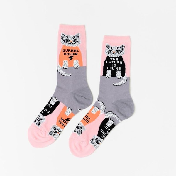 Yellow Owl Workshop Socks - Future is Feline