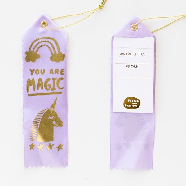 Yellow Owl Workshop Award Ribbon Card - You Are Magic