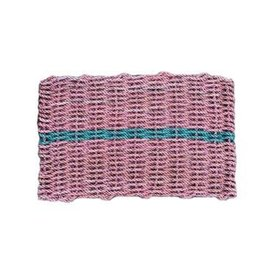 Cape Porpoise Trading Co. Recycled Rope Mat - Pink/Green - Large