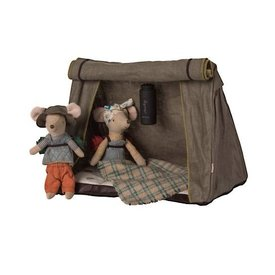 Maileg Mouse - 2 Hiking Mice with Tent & Flashlight