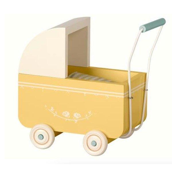 Maileg Pram with Bedding - Yellow