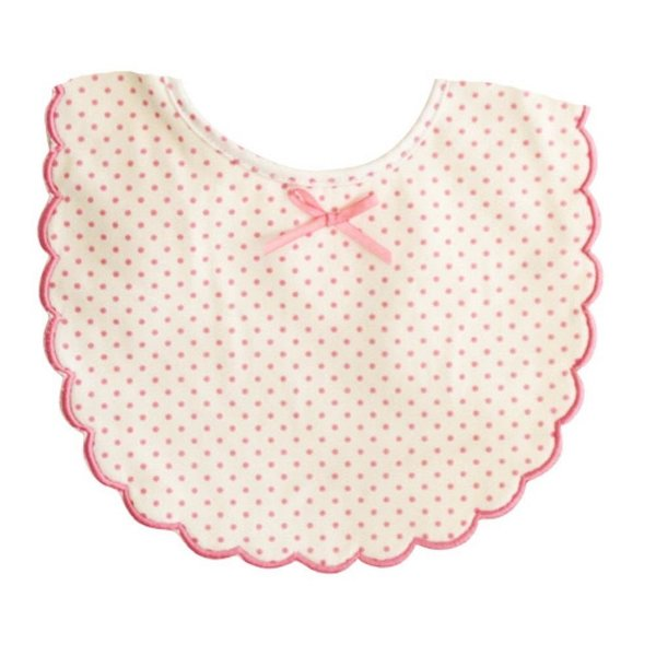 Alimrose Scallop Bib - Spot Pink