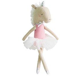 Alimrose Yvette Unicorn Doll - Pink Silver