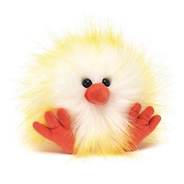 Jellycat Jellycat Crazy Chick White & Yellow