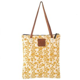 Erin Flett Heavy Canvas Mod Tote - Gold - Berries