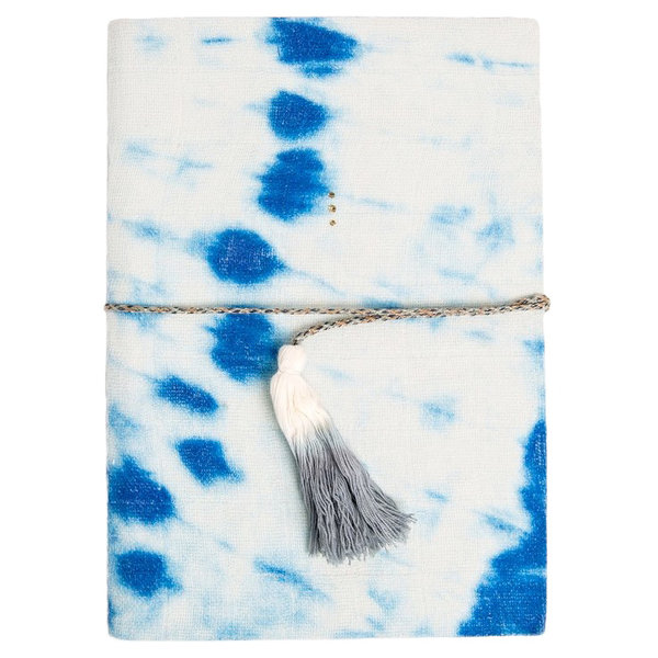 Printfresh Studio Printfresh Studio Indigo Diagonal Tie Dye Medium Gauze Notebook