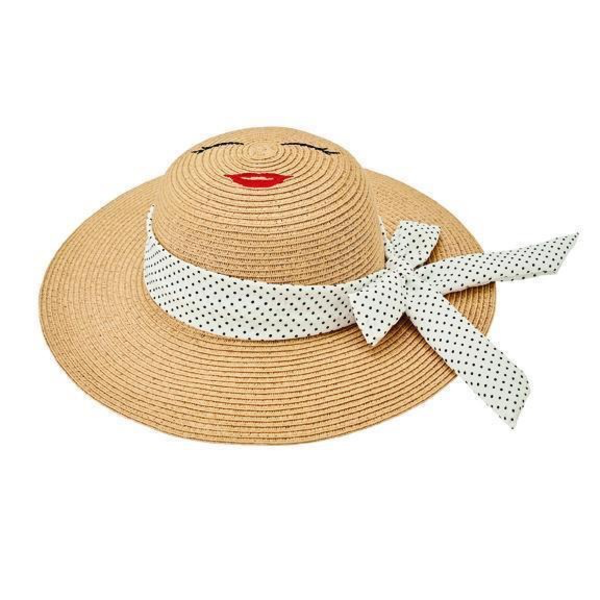 Kids Sun Hat - Natural with Face