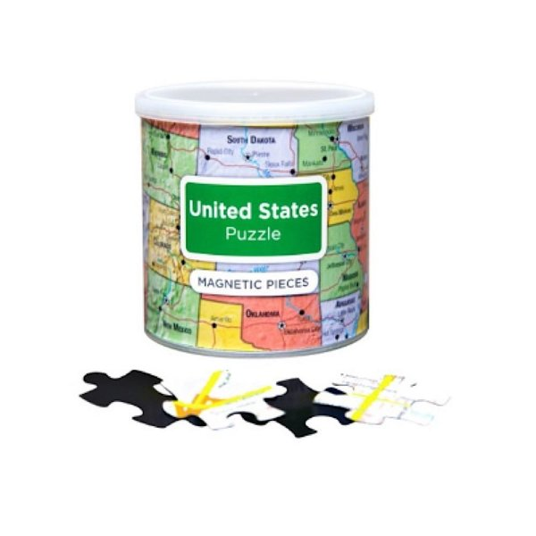 Geotoys Geotoys 100 Piece Magnetic Puzzles - USA