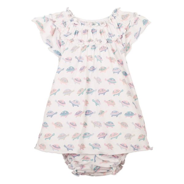 Feather Baby Feather Baby Ruched Tunic & Bloomer Set