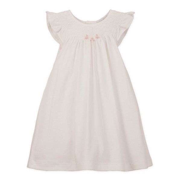 Feather Baby Feather Baby Hand-Smocked Knit Dress and Bloomer