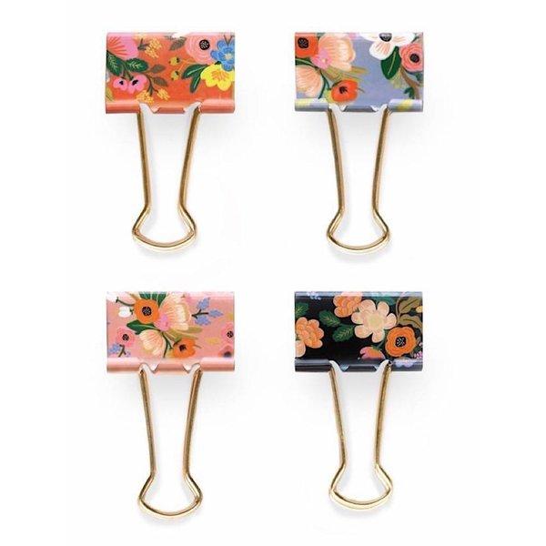 Rifle Paper Co. Binder Clips - Set of 8 - Lively Floral