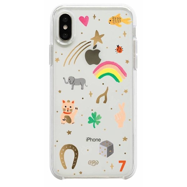 Rifle Paper Co. iPhone XS/X Case - Clear Good Luck Charms