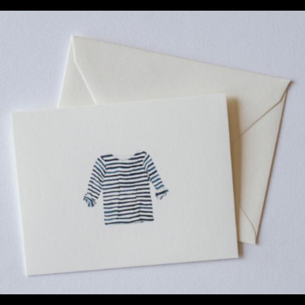 Sara Fitz Striped Shirt Card - Box of 8