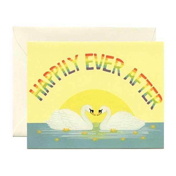 Yeppie Paper Happily Ever After Swans Card