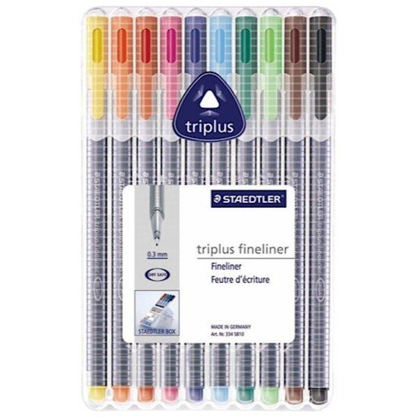 Staedtler TriPlus Fineliner - 10 Set