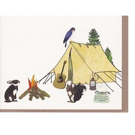 Screech Owl Design Gather Around Card
