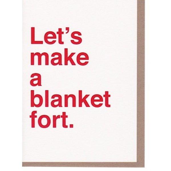 Sad Shop - Let's Make A Blanket Fort Card