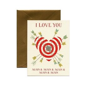 Yeppie Paper I Love You Again & Again Card