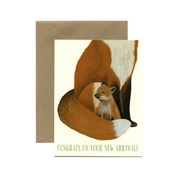 Yeppie Paper Fox New Arrival Card