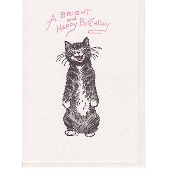 Saturn Press Cat Smile Card