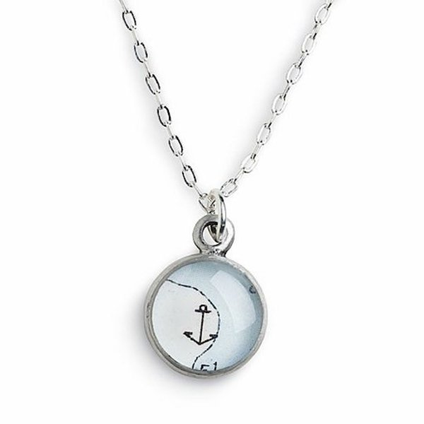 Chart Metalworks Petite Anchor Necklace - Pewter
