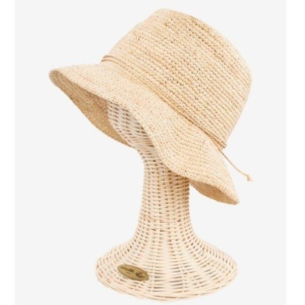 Crochet Raffia Bucket Hat- Natural