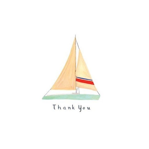 Small Adventure - Sailboat Thank You Card