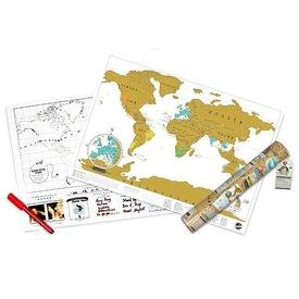 Scratch Map Travel Edition - Mini World Map