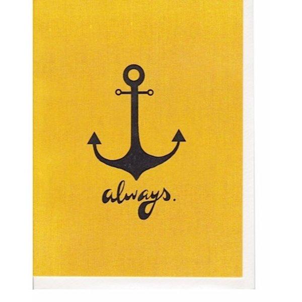 Hoopla Love Anchors Always Card