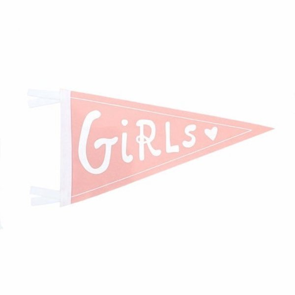 Strawberry Moth Wool Pennant Flag - Girls